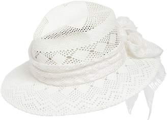 Maison Michel Henrietta Crochet Effect Straw Hat