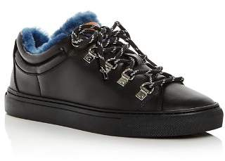 Bally Women's Heidi Leather & Shearling Lace-Up Sneakers