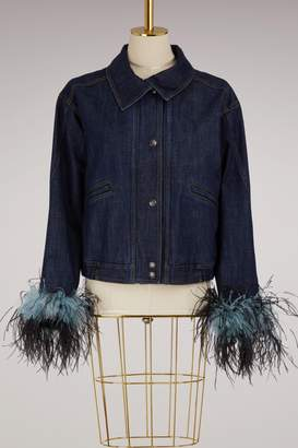 Prada Feathers denim jacket