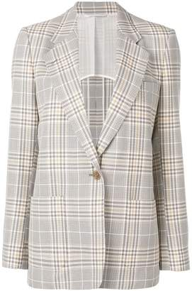 Acne Studios single-breasted plaid blazer