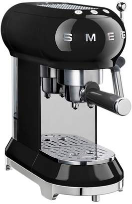 Smeg Black Espresso Coffee Machine Ecf01bluk