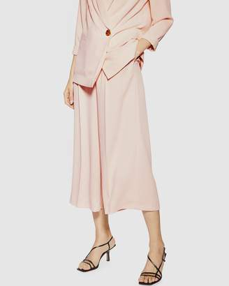 Topshop Rita Crop Wide Trousers