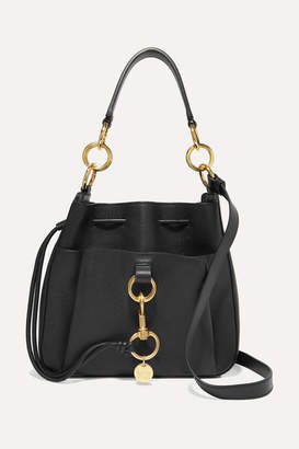 See by Chloe Tony Textured-leather Bucket Bag - Black