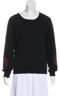 Dries Van Noten Appliqué Long Sleeve Sweatshirt