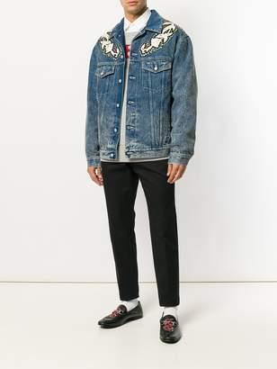 Gucci Denim jacket with floral applique