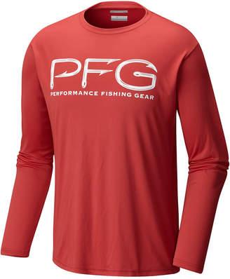Columbia Men Long-Sleeve Hook Logo Performance T-Shirt