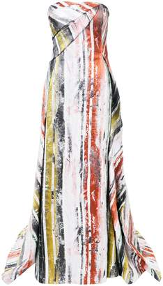 Rubin Singer painted stripe gown