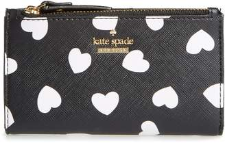 Kate Spade Cameron Street Hearts Mikey Faux Leather Wallet