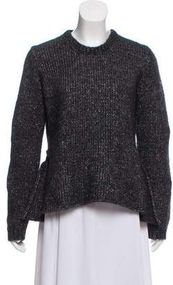3.1 Phillip Lim Long Sleeve Metallic Sweater