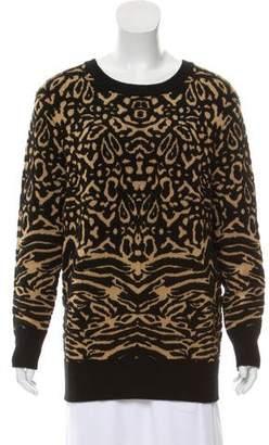 Torn By Ronny Kobo Oversize Animal Print Sweater