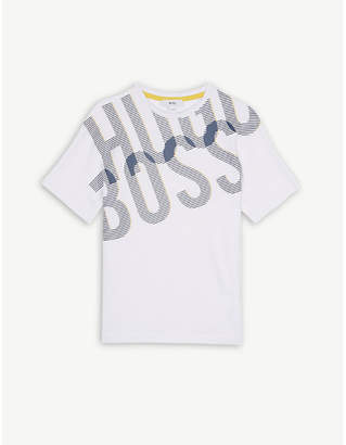 BOSS Oversize logo cotton T-shirt 4-16 years