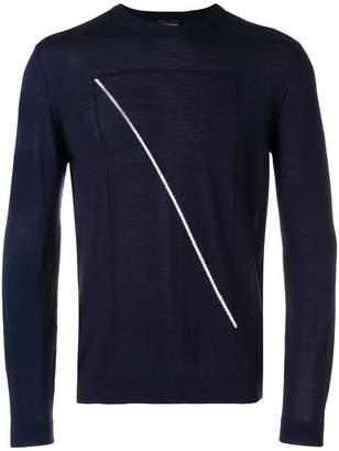 Giorgio Armani contrast line jumper