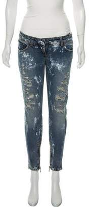 Balmain Mid-Rise Cropped Jeans