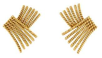 Tiffany & Co. 18K Rope Clip-On Earrings