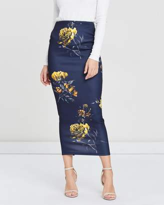Missguided Floral Midaxi Skirt