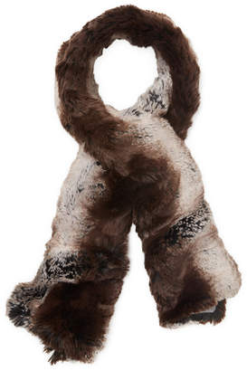Badgley Mischka Textured Faux Fur Scarf