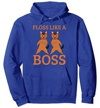 Floss Like A Boss Dog Dancing Pullover Hoodie Flossing Dance