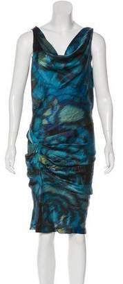 Black Halo Silk Midi Dress w/ Tags