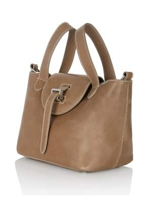 Meli-Melo Mini Thela in Light Tan with Contrast Stitching