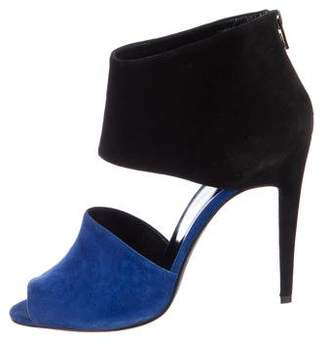 Pierre Hardy Suede Peep-Toe Pumps