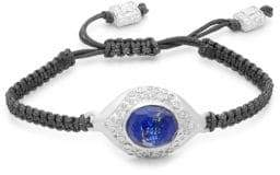 Armenta New World Diamond & Lapis Quartz Braided Bracelet