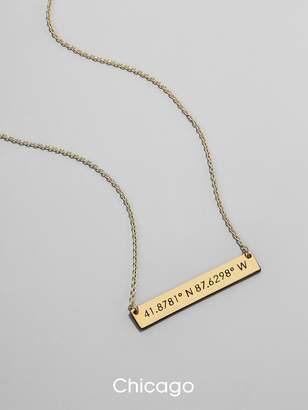 BaubleBar Metro 18K Gold Plated Pendant Necklace