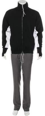 Valentino 2018 Drawstring Contrast Panel Sweatshirt
