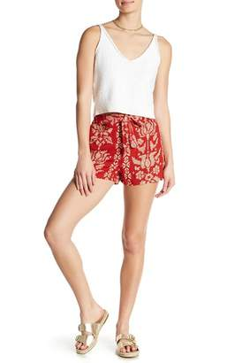 Angie Cross Stitch Print Shorts