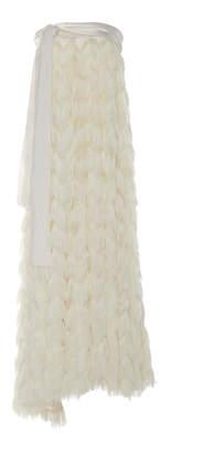 Marei 1998 Astrantia Fringed Fabric Strapless Dress