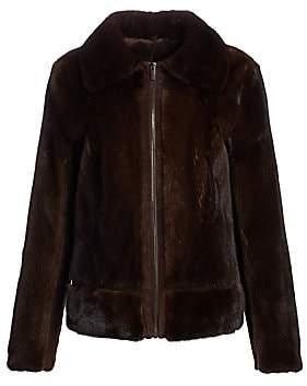 Zac Posen Women's Mink Fur & Suede Zip-Front Jacket