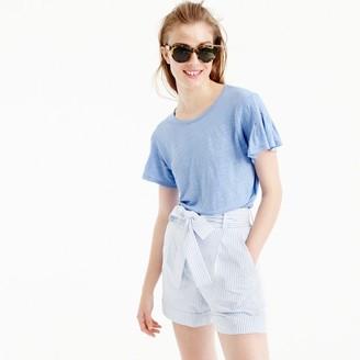 Linen flutter-sleeve T-shirt $49.50 thestylecure.com