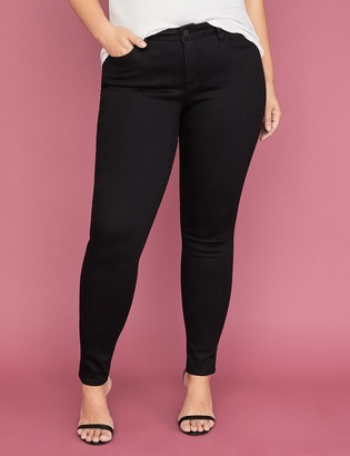 Lane Bryant Power Pockets Super Stretch Skinny Ankle Jean - Black