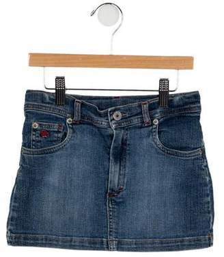 Burberry Girls' Distressed Denim Skirt