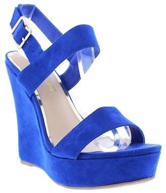 Liliana Derby Ankle Strap Wedge Sandal
