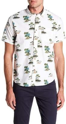Tailor Vintage Island Print Short Sleeve Poplin Shirt