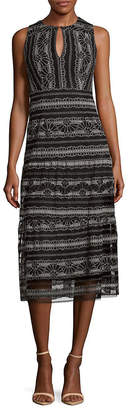 Nanette Lepore Embroidered Cutout Dress