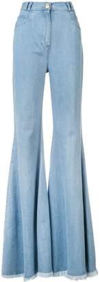 Balmain high rise flared jeans
