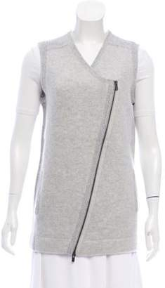 Duffy Zip-Up Knit Vest w/ Tags