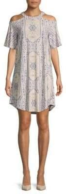 BCBGMAXAZRIA Printed City Shift Dress