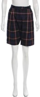 Dries Van Noten Plaid Knee-Length Shorts w/ Tags