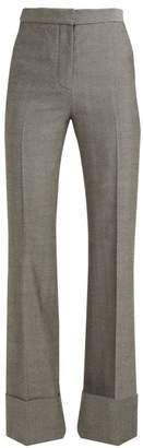 Stella McCartney Straight Leg Wool Trousers - Womens - Grey