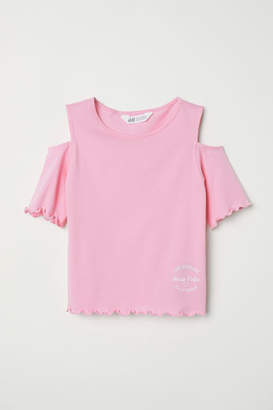 H&M Open-shoulder Top - Pink