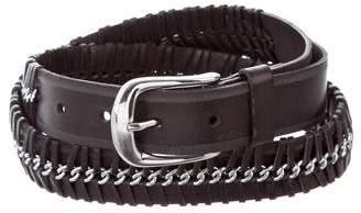 Paige Embellished Woven Belt