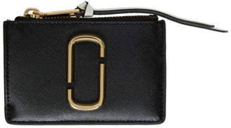 Marc Jacobs Black and White Snapshot Top Zip Multi Card Holder