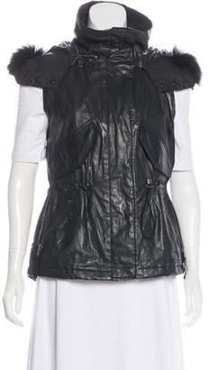 SAM. Fur-Trimmed Coated Vest