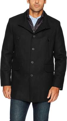 Cole Haan Men's Pressed Melton 3-in-1 Topper Jacket With Removable Bib