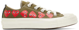 Comme des Garcons Khaki Converse Edition Multiple Heart Chuck 70 Low Sneakers
