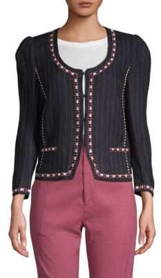 Etoile Isabel Marant Jilo Pinstripe Linen Jacket