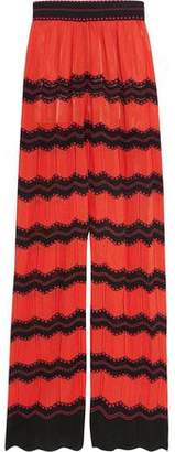 M Missoni Cotton-blend Crochet-knit Wide-leg Pants