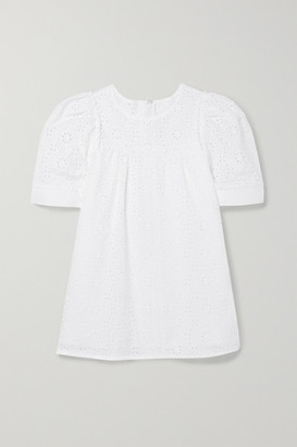 Chloé Kids - Ages 6 - 12 Broderie Anglaise Cotton Top